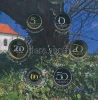 2010. 5Ft-200Ft (6xklf) forgalmi sor + Pécs 2010 Európa kulturális fővárosa Ag emlékérem (10g/0.999/27mm) T:PP Adamo FO44+PP.FZ6