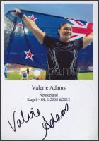 Valerie Adams olimpiai bajnok atléta saját kézzel aláírt fotója / Autograph signed photo of Olympic Games contestant 16x10 cm