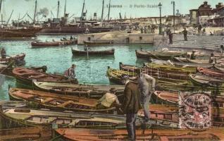 Livorno, Porto Scalo / port boats, TCV card