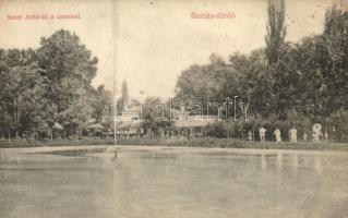Buziásfürdő, Buzias; Szent Antal tó, korzó, Francz testvérek kiadása / lake, corso (EK)