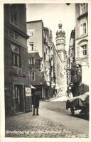 Innsbruck, Alt-Innsbruck; Strassenpartie / street view, shop of Josef Putzenbacher