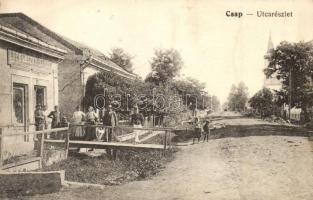 Csap, Chop; Utcarészlet, Lucsánszky János üzlete / street, shop (EK)