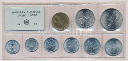 1981. 2f-10Ft (10xklf) érmés forgalmi sor fóliatokban T:1 Adamo FO14