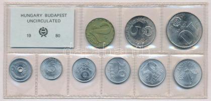 1980. 2f-10Ft (10xklf) érmés forgalmi sor fóliatokban T:1  Adamo FO13