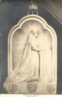 Erzsébet királyné (Sissy) domborműve Pozsonyban. Kozics udv. fényképész / Queen Elisabeth relief in Bratislava