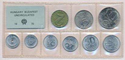 1979. 2f-10Ft (10xklf) érmés forgalmi sor fóliatokban T:1 Adamo FO12