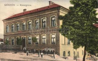 Magyarszőgyén, Szőgyén, Madarsky Seldín; Községháza / town hall