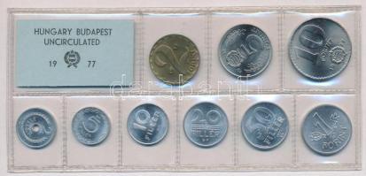 1977. 2f-10Ft (9xklf) érmés forgalmi sor fóliatokban T:1