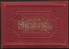 cca 1880-1900 Souvenir of the Hudson River, képes leporelló, 9x13 cm