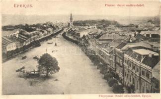 Eperjes, Presov; Fő utca, Divald műintézetéből / main street