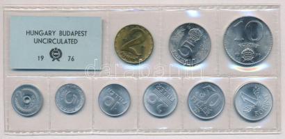 1976. 2f-10Ft (10xklf) érmés forgalmi sor fóliatokban T:1 Adamo FO9