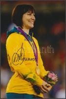 Anna Meares olimpiai bajnok kerékpáros saját kézzel aláírt fotója / Autograph signed photo of Olympic Games contestant 16x10 cm