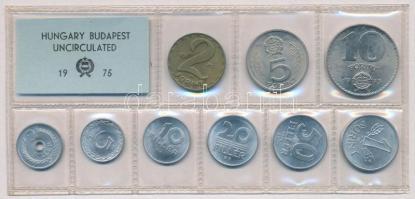 1975. 2f-10Ft (9xklf) érmés forgalmi sor fóliatokban T:1