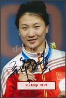 Xu Anqi olimpiai bajnok vívó saját kézzel aláírt fotója / Autograph signed photo of Olympic Games contestant 16x10 cm