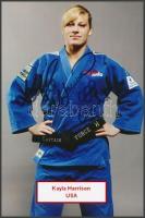 Kayla Harrison olimpiai bajnok judo-s saját kézzel aláírt fotója / Autograph signed photo of Olympic Games contestant 16x10 cm