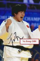 Yu Song olimpiai bajnok judo-s saját kézzel aláírt fotója / Autograph signed photo of Olympic Games contestant 16x10 cm