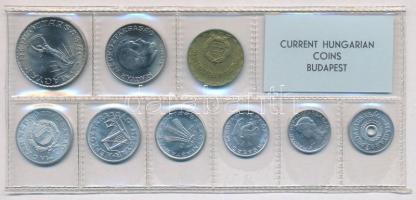 1974. 2f-10Ft (9xklf) érmés forgalmi sor fóliatokban T:1 Adamo FO7