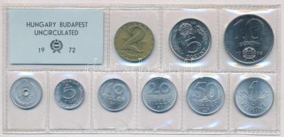 1972. 2f-10Ft (10xklf) érmés forgalmi sor fóliatokban T:1 Adamo FO5