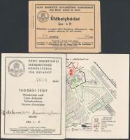 1938 A XXXIV. Nemzetközi Eucharisztikus Kongresszusra szóló tagsági jegy jegytérképpel, ülőhelybérlettel