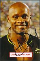 Asafa Powell olimpiai bajnok atléta saját kézzel aláírt fotója / Autograph signed photo of Olympic Games contestant 16x10 cm
