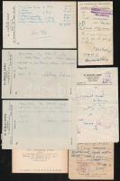 cca 1929-1952 Vegyes orvosi névjegy, recept és beutaló tétel főként budapesti orvosok által kiállítva, 7 db