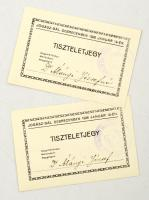 1926 2 belépőjegy a debreceni jogászbálra.
