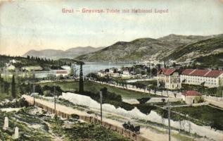 Gruz, Gravosa; Totale mit Halbinsel Lopud / general view, Lopud peninsula (EK)