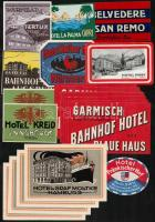 kb 20 db régi bőrönd/ hotelcímke / Hotel labels luggage labels