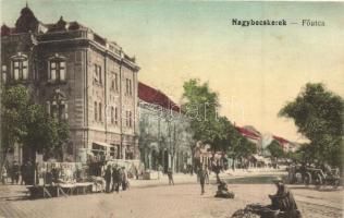 Nagybecskerek, Zrenjanin; Fő utca, piac, kiadja Strelinger Márk / main street, market