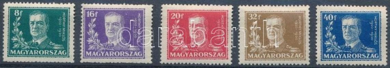 1930 Horthy Kormányzói évforduló sor (8.000) (betapadás nyomok, törés)