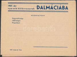 cca 1930 Dalmát tengerpart Ibusz képes reklámnyomtatvány