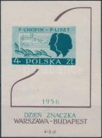 1956 Bélyegnap Liszt Chopin blokk Mi 19