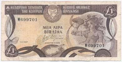Ciprus 1987. 1P T:III Cyprus 1987. 1 Pound C:F Krause 53.