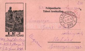 1918 K.u.K. 2. Honvéd Gyalogezred tábori levelezőlapja / WWI K.u.K Infanterieregiment 2 military postcard