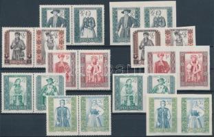 1959 Népviseletek (I) sor párokban 1138-1147 A+B