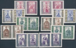 1960 Népviseletek (II) sor párokban 1156-1165 A+B