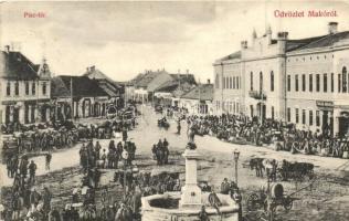 Makó, Piac tér, Tokár András, Joánovits A. és Oberliner Mór üzlete. Kiadja Vészi Dezső