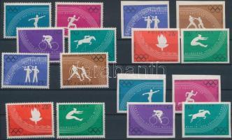 1960 Olimpia fogazott és vágott sor Mi 1166-1173 A+B