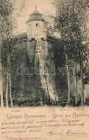 1899 Komárom, Komárno; Kőszűz, Freisinger Mór / statue in the castle (Rb)