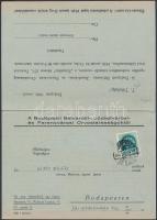 1940 Bp., Meghívó Az orvostársadalom aktuális gazdasági kérdései című értekezletre