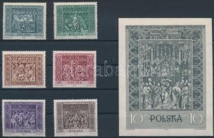 1960 Krakkói Mária-templom sor Mi 1179-1184 + vágott blokk Mi 23