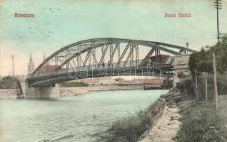 Komárom, Komárno; Dunai Kishíd, 65124-es uszály. Laky Béla / bridge, barge (Rb)