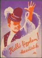 cca 1930-1940 A 42. osztálysorsjáték szórólapja, 14x11 cm