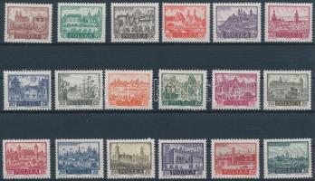 1960 Történelmi városok (I-II.) sor Mi 1188-1196 + 1209-1217