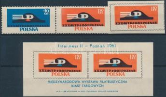 1961 Nemzetközi bélyegkiállítás sor Mi 1230-1231, 1253 + blokk Mi 25