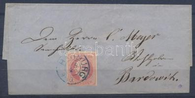 1864 Mi 23x levélen HAMBURG (Mi EUR 60,-)