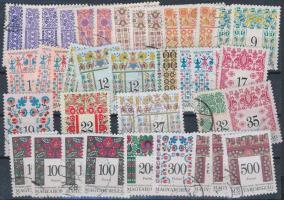 Népművészet bélyegek 3 stecklapon