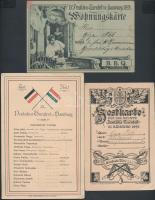 1898 Hamburg, IX. Deutsches Turnfest in Hamburg (IX. Német Tornászünnep), A magyar tornászok névsora, belépőkártyák, 3 db