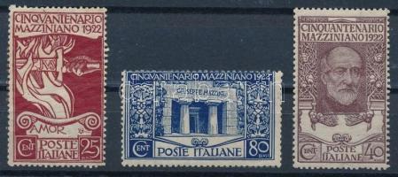 1922 Giuseppe Mazzini sor Mi 157-159 (Mi EUR 60,-) (159 falcos / hinged)