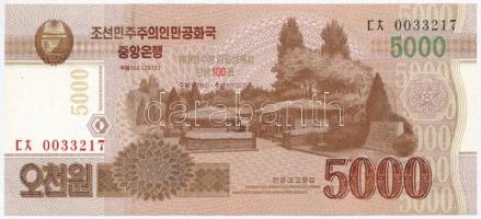 Észak-Korea 2013. 5000W 100 éve született Kim Ir Szen emlékkiadás T:I North Korea 2013. 5000 Won 10th Anniversary of Kim Il-sung commemorative issue C:UNC